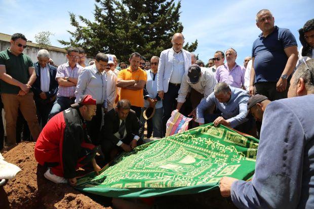 مقبرة حي الرياض/ الرباط.. دفن جثمان سميرة الفيزازي (صور)
