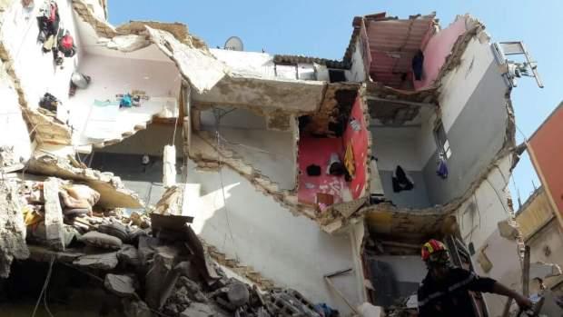 بالصور من كازا.. انهيار بناية سكنية في درب الكبير
