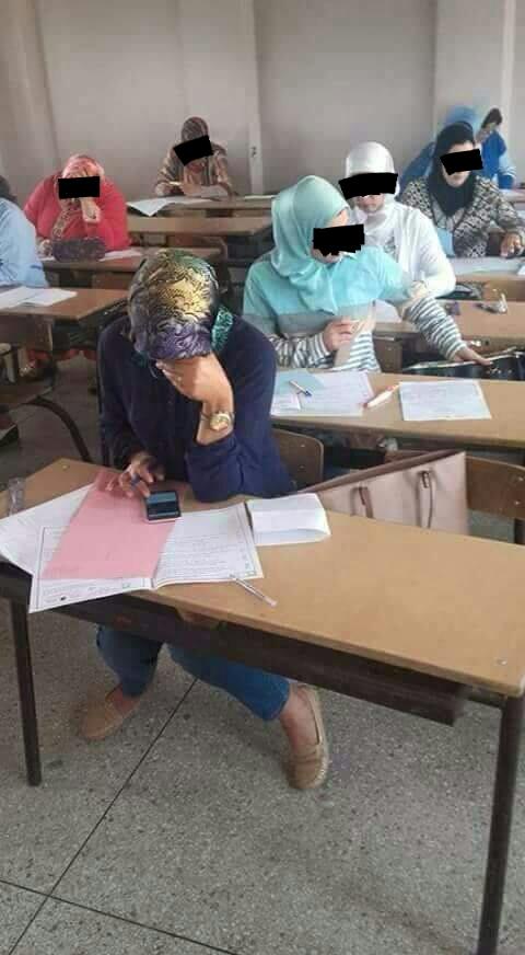 الفقيه اللي نتسناو براكتو.. أستاذة كتنقل في امتحان الكفاءة المهنية!!