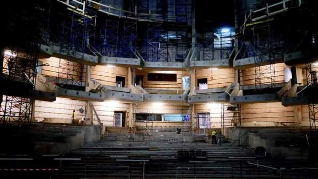 في انتظار افتتاحه.. المسرح الكبير ديال كازا قريب يسالي (صور)