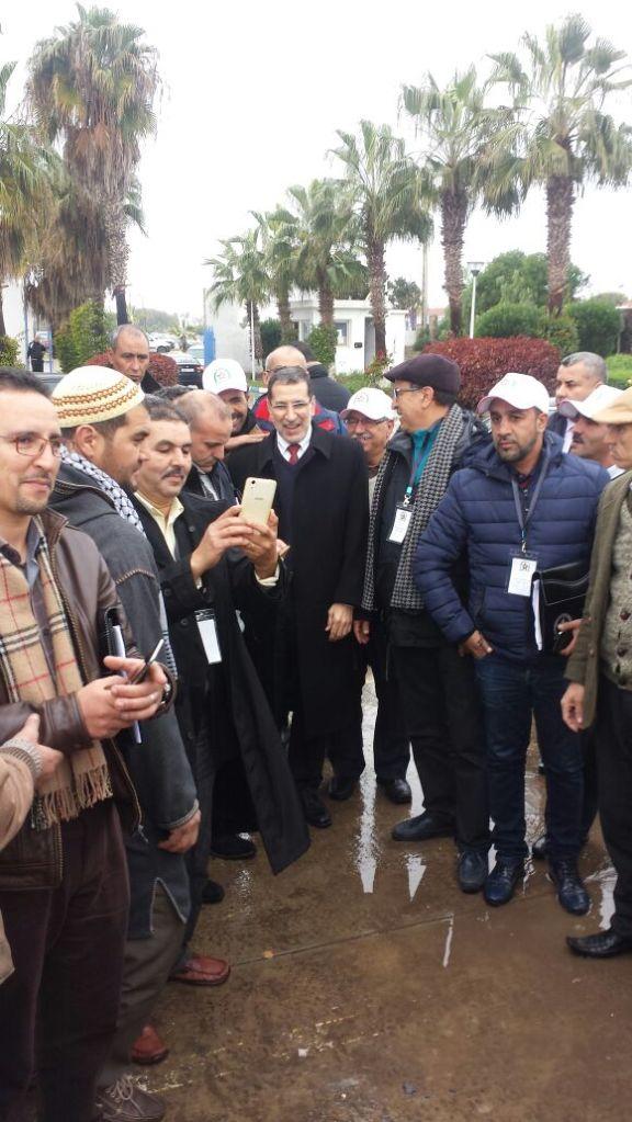 بالصور من بوزنيقة.. التجار في استقبال العثماني
