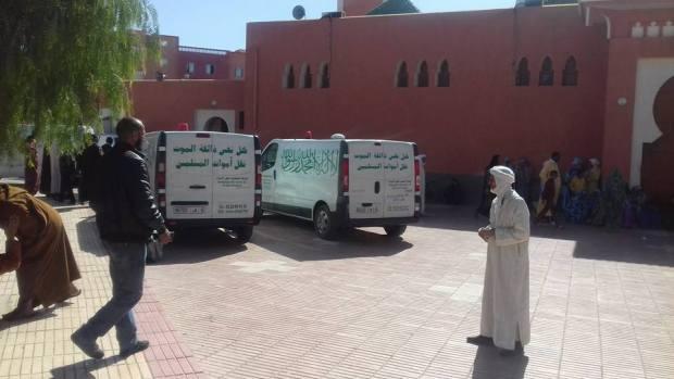 """بالصور من كلميم.. وصول جثامين المغاربة السبعة ضحايا """"فاجعة لانزاروتي"""""""