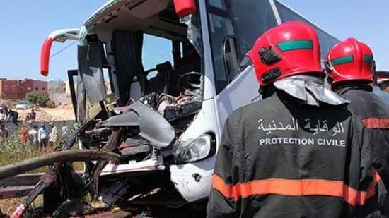انقلاب حافلة للنقل المزدوج في الصويرة.. 17 شخصا غادروا المستشفى و4 تحت المراقبة الطبية