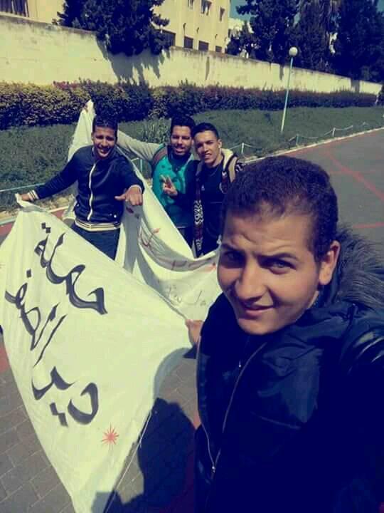 """بالصور من المحمدية.. طلبة يطلقون حملة """"دير الصف"""""""