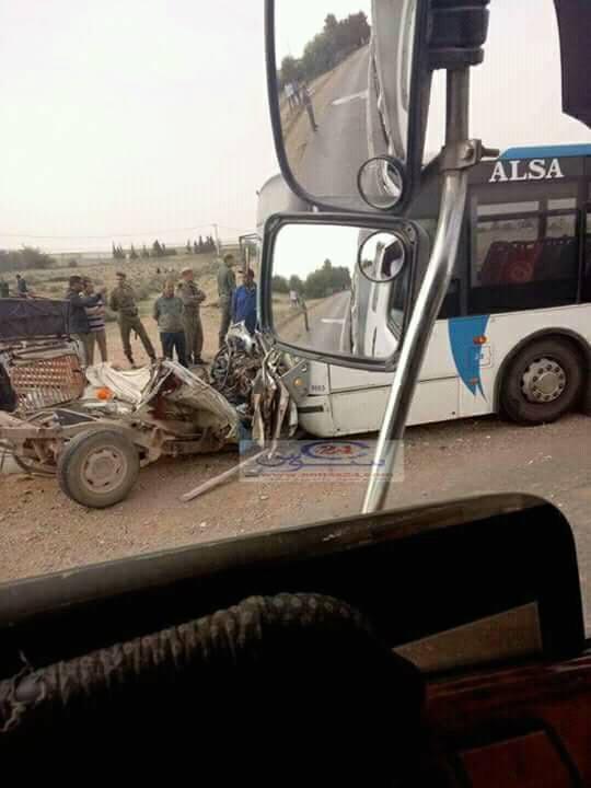 شتوكة آيت باها.. 9 قتلى و6 جرحى في اصطدام شاحنة بحافلة