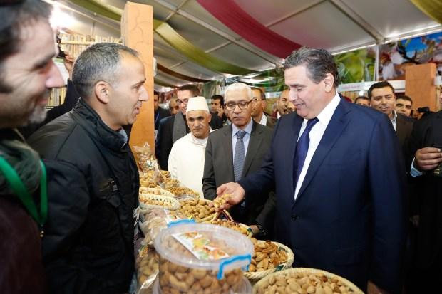 حجة وزيارة.. أخنوش يفتتح معرض المنتجات المحلية في مسقط رأسه تافراوت (صور)