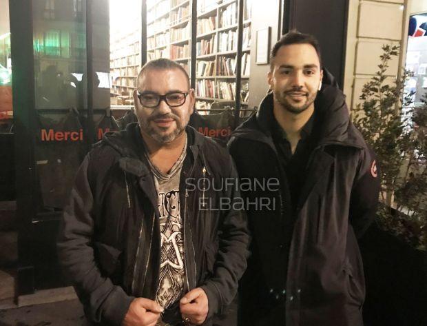 من باريس.. صور الملك مع مغاربة وأجانب