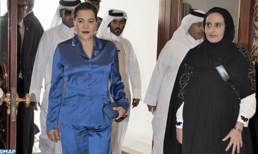 نيابة عن الملك محمد السادس..الأميرة للا حسناء في الدوحة
