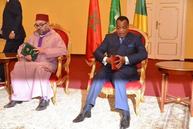اتفاقيات ومباحثات وتدشين.. اليوم الثاني للملك في الكونغو (صور)