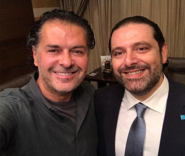 فن وسياسة.. راغب علامة في بيت سعد الحريري