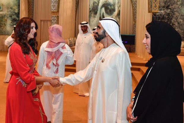 وصفته بصانع الأمل.. مريم سعيد فرحانة بلقاء حاكم دبي