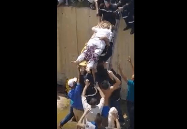 بالفيديو.. البريكولاج لإنقاذ ضحايا حادثة سير في طنجة