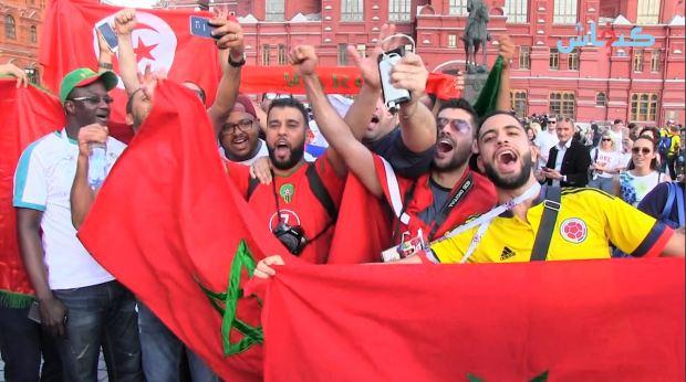 من روسيا.. مغاربة محيحين ومتفائلين بالفوز على البرتغال