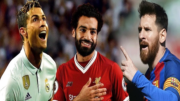 أفضل لاعب في العالم.. صلاح يزاحم رونالدو وميسي