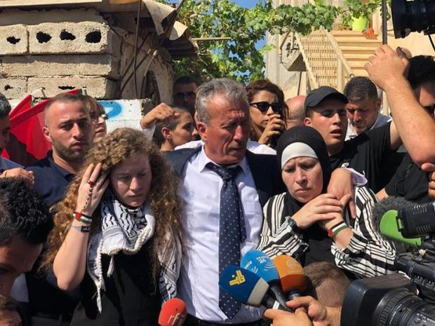 بالفيديو.. الإفراج عن الفتاة الفلسطينية عهد التميمي