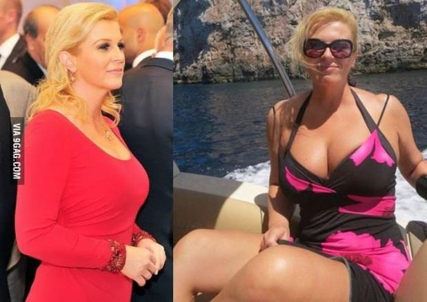 ماشي هي.. حقيقة صور رئيسة كرواتيا على البحر (صور)