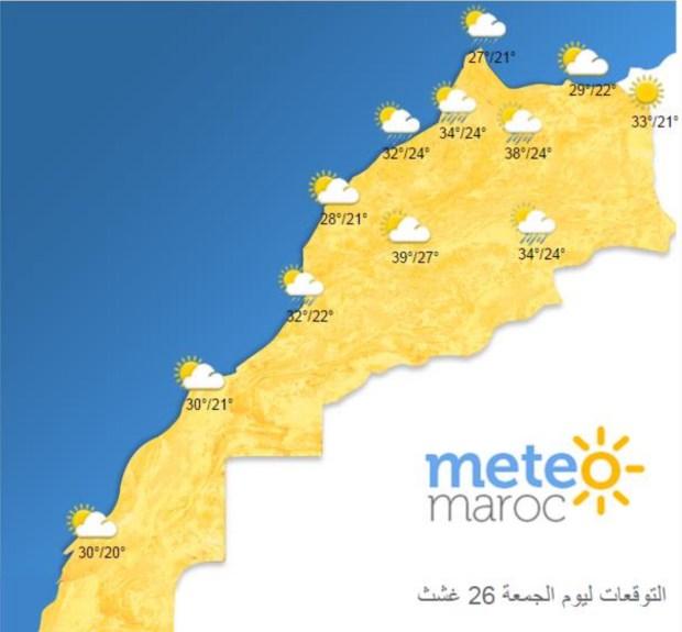 اليوم الثلاثاء.. الحرارة ستصل إلى 44 درجة