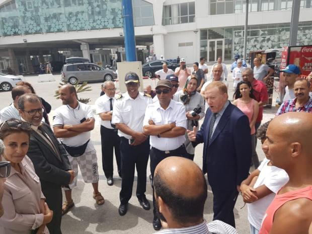 بعد احتجاجات الجالية.. بوليف يزور ميناء طنجة