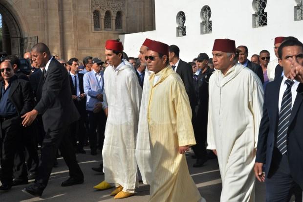 مقبرة الشهداء/ كازا.. الأمير مولاي رشيد في جنازة كريم العمراني (صور)