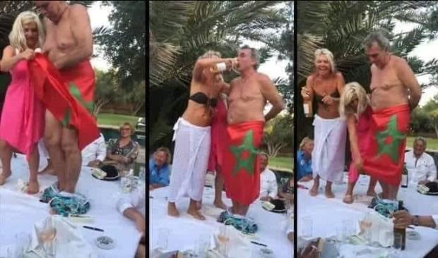 صور.. غضب كبير من ضصارة فرنسي تكرفص على العلم المغربي