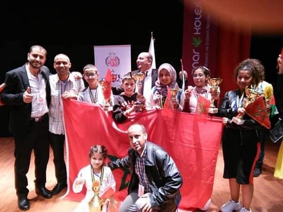 تركيا.. تلاميذ مغاربة يسيطرون على المسابقة الدولية للحساب الذهني (صور)