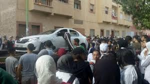 بالصور من برشيد.. سيارة مراهقين تدوس 4 تلاميذ أمام ثانوية