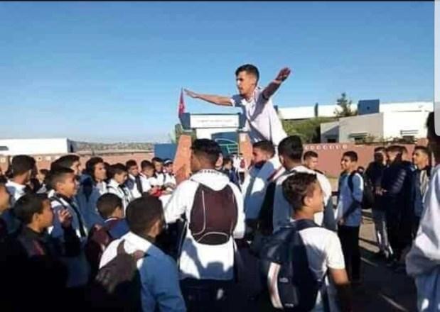 اليوم الخامس بدون دراسة.. احتجاجات التلاميذ مستمرة في الصويرة! (صور وفيديو)