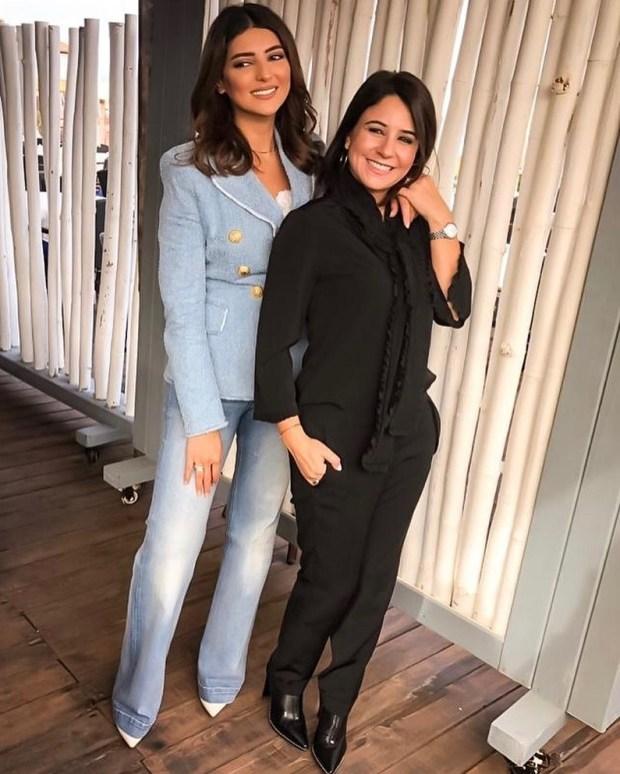 عجباتها.. سامية أقريو تنشر صورة مع مريم سعيد