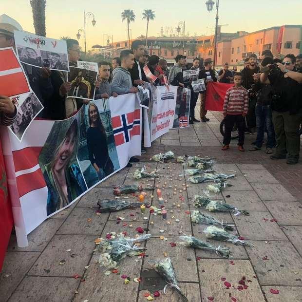بالصور من جامع الفنا/ مراكش.. مسيرة تضامنية مع عائلتي ضحيتي مذبحة شمهروش