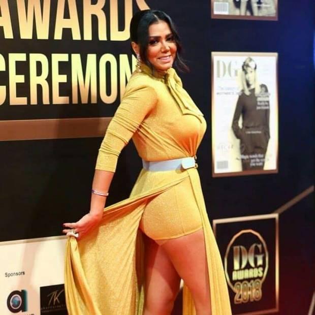 """بغات طرطق ليهم شي عرق.. الممثلة المصرية مصرة على """"الفستان الشورط""""! (صور وفيديو)"""