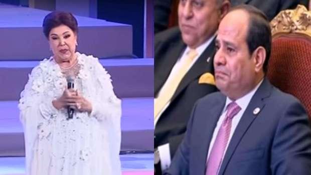 بالفيديو من مصر.. عبد الفتاح السيسي يُبكي الممثلة رجاء الجداوي