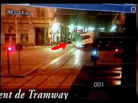 بالفيديو.. لحظة اصطدام شاحنة بالترامواي في كازا
