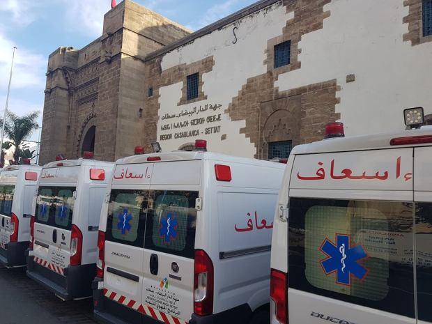 جهة كازا سطات.. توزيع 22 سيارة إسعاف
