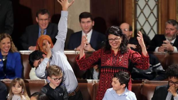 أول أمريكية من أصل فلسطيني.. رشيدة طليب تدخل القرآن إلى الكونغرس