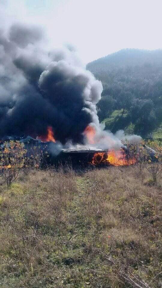 بالصور والفيديو من منطقة تاونات.. تحطم طائرة تابعة للقوات الملكية الجوية