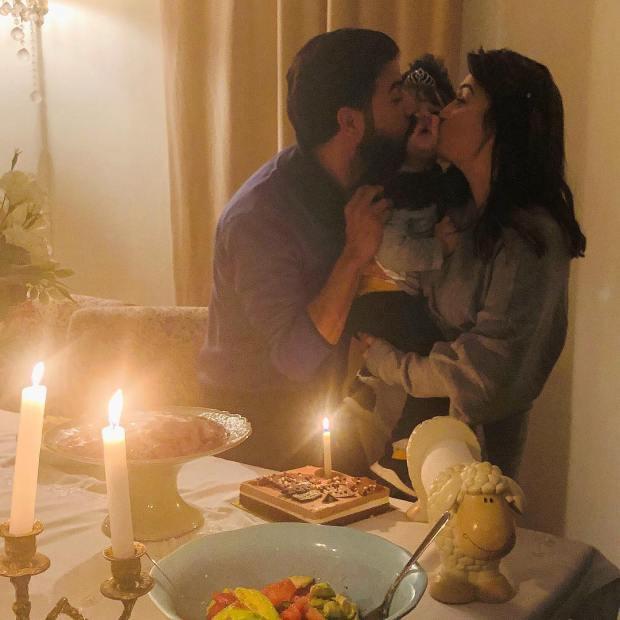 عمر لطفي وفرح الفاسي.. صورة رومانسية في راس السنة