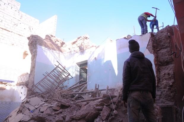 بالصور من مراكش.. انهيار منزل في المدينة العتيقة