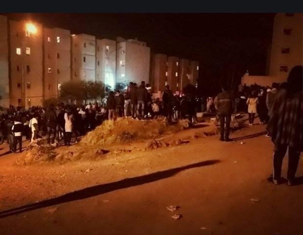 بالصور من وجدة.. انفجار قنينة غاز في الحي الجامعي