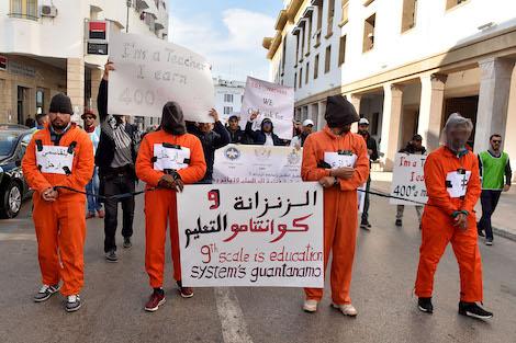 """إضراب موحد يوم الخميس.. أساتذة يرفعون شعار """"التعليم في ذمة الله"""""""