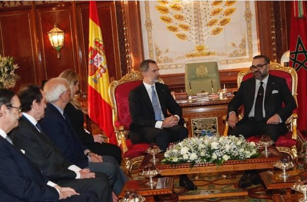 بالصور من الرباط.. الملك يتباحث مع العاهل الإسباني