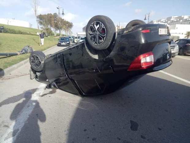بالصور من الرباط.. 10 مصابين في اصطدام 4 سيارات