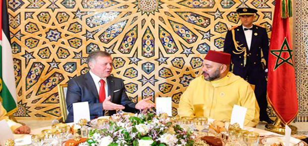 الإقامة الملكية في كازا.. الملك يقيم مأدبة غداء على شرف العاهل الأردني
