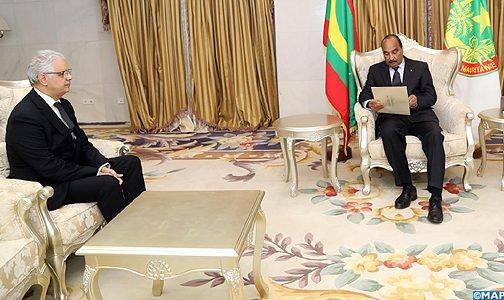 سلمه رسالة من الملك.. الرئيس الموريتاني يستقبل نزار بركة