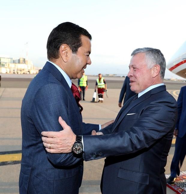 كان في وادعه الأمير مولاي رشيد.. العاهل الأردني يغادر المغرب