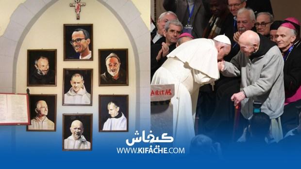 يقطن في ميدلت.. البابا يقبل يد الناجي الوحيد من مجزرة رهبان الجزائر