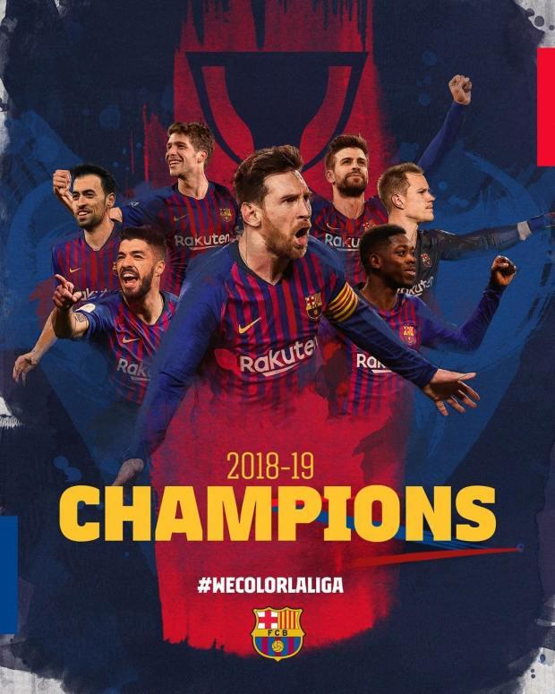 قبل نهاية الدوري.. برشلونة بطلا لليغا الإسبانية للمرة 26