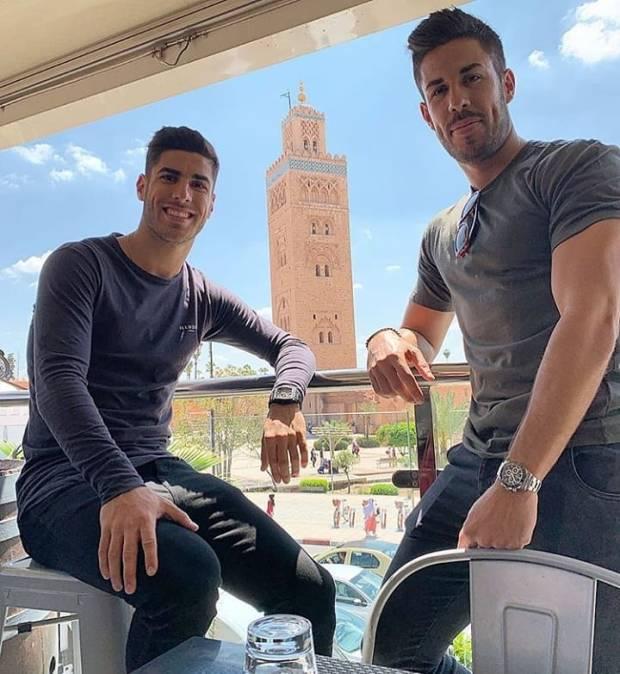 بالصور.. نجما ريال مدريد أسينسيو وكارباخال في مراكش
