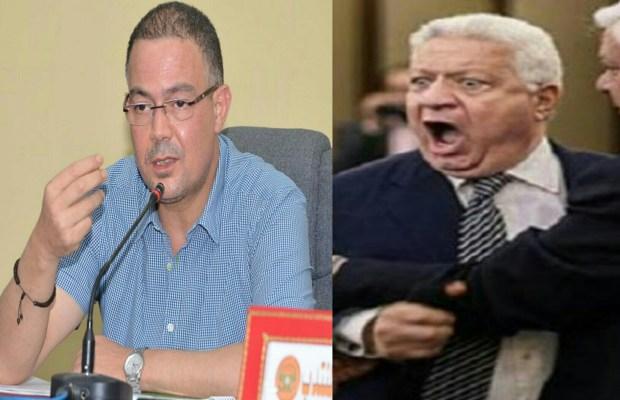 """بغا يركب على الموجة.. رئيس الزمالك المصري يحفز لاعبيه """"على ظهر"""" فوزي لقجع"""