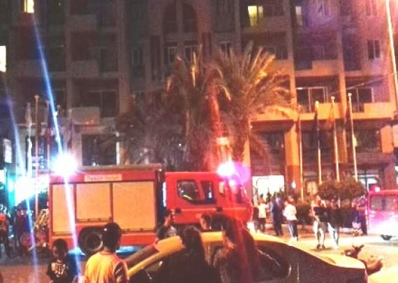 هربو الناس بالحفى.. تماس كهربائي يسبب حريقا في فندق في مراكش