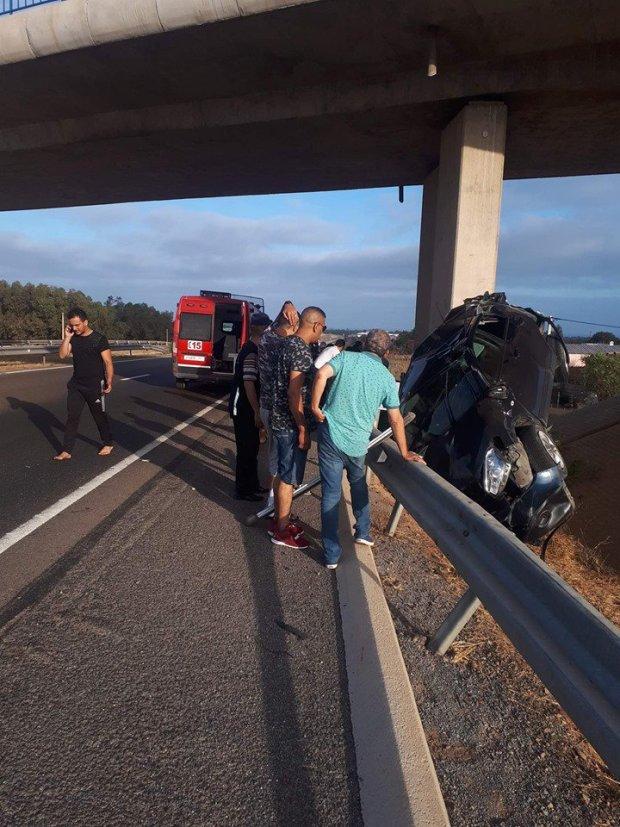 بالصور.. حادثة سير خطيرة في تمارة